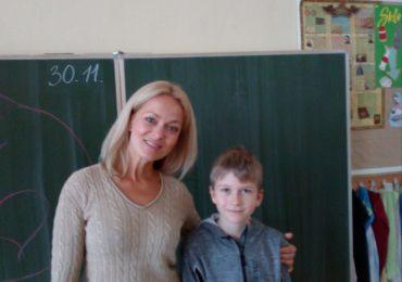 Janka Hospodárová na návšteve u nás v škole